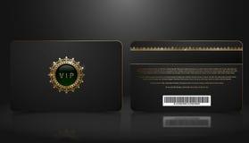 Dirigez le calibre de la carte noire d'adhésion ou de fidélité VIP avec le modèle géométrique de luxe Présentation de conception  illustration stock