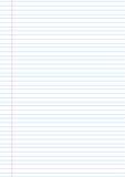 Dirigez le calibre de papier de fond de carnet avec le fild de côté gauche pour des notes illustration de vecteur