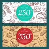 Dirigez le calibre de remise ou de bon avec la nourriture mexicaine illustration stock