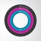 Dirigez le calibre infographic d'élément circulaire pour concevoir un site Web Photo libre de droits