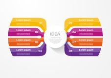 Dirigez le calibre infographic pour le diagramme, le graphique, la présentation et le diagramme Concept d'affaires avec 8 options illustration de vecteur