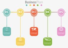 Dirigez le calibre infographic pour le diagramme, graphique, présentation, le diagramme, concept d'affaires avec 5 options Images libres de droits