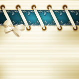 Dirigez le calibre pour épouser le fond avec la dentelle, le ruban a de satin illustration libre de droits