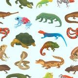 Dirigez le caméléon sauvage de faune animale de lézard de nature de reptile, serpent, tortue, illustration de crocodile de reptil illustration libre de droits