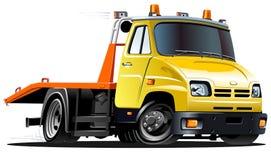 Dirigez le camion de remorquage de dessin animé Photographie stock