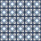 Dirigez le carrelage monochrome de modèle sans couture avec différents éléments géométriques dans le style simple Photo stock