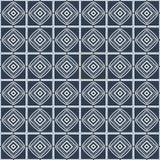Dirigez le carrelage monochrome de modèle sans couture avec différents éléments géométriques dans le style simple Photographie stock