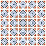 Dirigez le carrelage sans couture de modèle avec différentes formes géométriques dans le style simple Photos stock