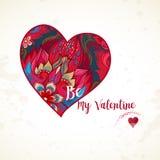 Dirigez le coeur, décor romantique soit mon Valentine Images stock