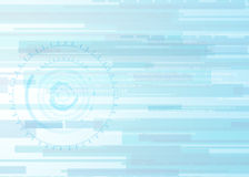 Dirigez le concept abstrait de communication de technologie de fond, fond futuriste, cercle de techno Image libre de droits