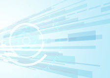 Dirigez le concept abstrait de communication de technologie de fond, fond futuriste, cercle de techno Images stock