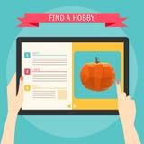 Dirigez le concept d'illustration des mains tenant le tabl numérique moderne Image libre de droits