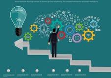 Dirigez le concept de construction plat d'illustration pour l'analyse commerciale et la planification, le concept des bannières d Photo libre de droits