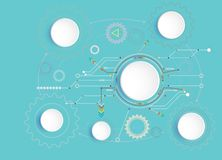 Dirigez le concept de pointe numérique d'illustration et d'ingénierie de télécom de technologie illustration stock