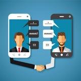 Dirigez le concept de télécommunication mondiale du monde avec la longue distance Image libre de droits