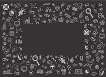 Dirigez le concept du marketing d'Internet et des affaires en ligne Photographie stock