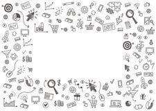 Dirigez le concept du marketing d'Internet et des affaires en ligne Photos stock