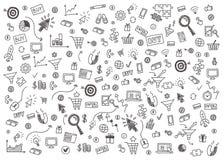 Dirigez le concept du marketing d'Internet et des affaires en ligne Image stock