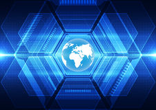 Dirigez le concept global numérique de technologie, fond abstrait Images stock