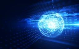 Dirigez le concept global num?rique de technologie, fond abstrait