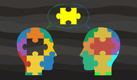 Dirigez le concept indiquant l'idée de la séance de réflexion/de discussion Photographie stock