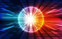 Dirigez le concept numérique de technologie de vitesse, illustration abstraite de fond