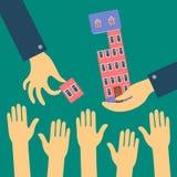 Dirigez le concept plat des ventes ou louez un appartement Illustration Libre de Droits