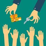 Dirigez le concept plat des ventes ou louez un appartement Illustration de Vecteur