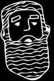Dirigez le croquis du visage d'un mâle adulte avec une barbe Photo libre de droits