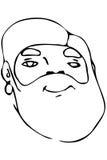 Dirigez le croquis du visage d'un mâle adulte avec une barbe Photos stock