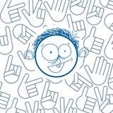 Dirigez le dessin coloré d'art de la personne heureuse, éducation Images libres de droits
