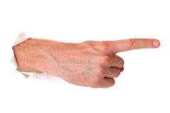 Dirigez le doigt Photo libre de droits