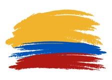 Dirigez le drapeau de la Colombie, illustration de drapeau de la Colombie, photo de drapeau de la Colombie, drapeau de la Colombi illustration stock