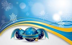 Dirigez le drapeau rouge de Noël Images stock