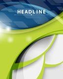 Dirigez le fond abstrait bleu d'entreprise constituée en société de technologie et vert moderne Photos stock