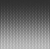 Dirigez le fond abstrait tramé, gradation blanche noire de gradient L'hexagone géométrique de mosaïque forme le modèle monochrome Photos stock