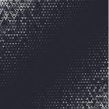 Dirigez le fond abstrait tramé, gradation blanche noire de gradient La triangle géométrique de mosaïque forme le modèle monochrom Image stock