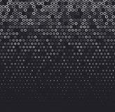Dirigez le fond abstrait tramé, gradation blanche noire de gradient Le cercle géométrique de mosaïque forme le modèle monochrome Photos libres de droits