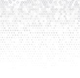 Dirigez le fond abstrait tramé, texture de blanc gris, gradation de gradient Le cercle géométrique de mosaïque forme le monochrom Image libre de droits