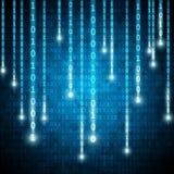Dirigez le fond binaire de style de matrice avec le nombre en baisse illustration stock