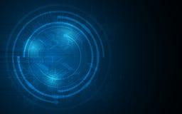 Dirigez le fond circulaire de concept d'innovation de technologie de la science de formule de chimie d'hexagone illustration libre de droits