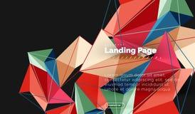 Dirigez le fond d'abrégé sur la triangle 3d, dessin géométrique polygonal illustration stock