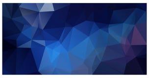 Dirigez le fond de mosaïque de triangle de polygone dans des couleurs foncées Photo stock