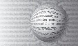 Dirigez le fond des nombres binaire illustration libre de droits