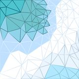 Dirigez le fond des triangles aux nuances froides Photo stock