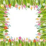 Dirigez le fond floral avec des éléments et des fleurs de Pâques illustration de vecteur