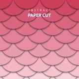 Dirigez le fond géométrique avec la coupe rouge et rose de papier de couleur illustration de vecteur