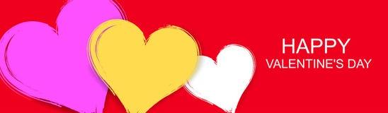 Dirigez le fond heureux de bannière de jour du ` s de valentine illustration de vecteur