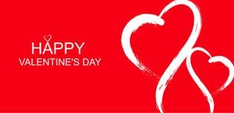 Dirigez le fond heureux de bannière de jour du ` s de valentine illustration libre de droits