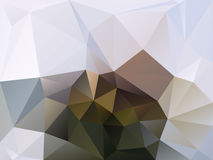 Dirigez le fond irrégulier de polygone avec un modèle de triangle dans la couleur brune, beige et grise naturelle illustration de vecteur